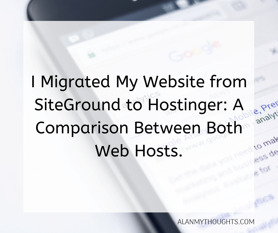 From SiteGround to Hostinger