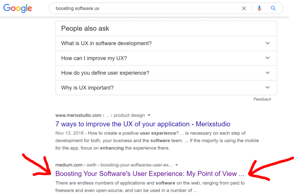 software user experience