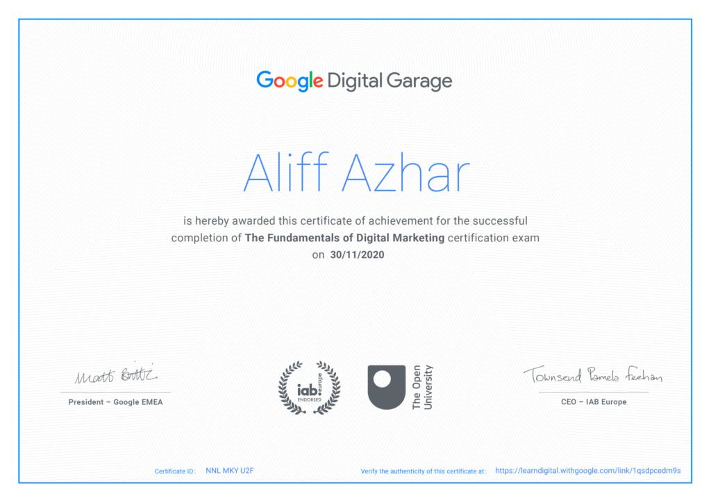 google-digital-garage-certificate-alanmythoughts