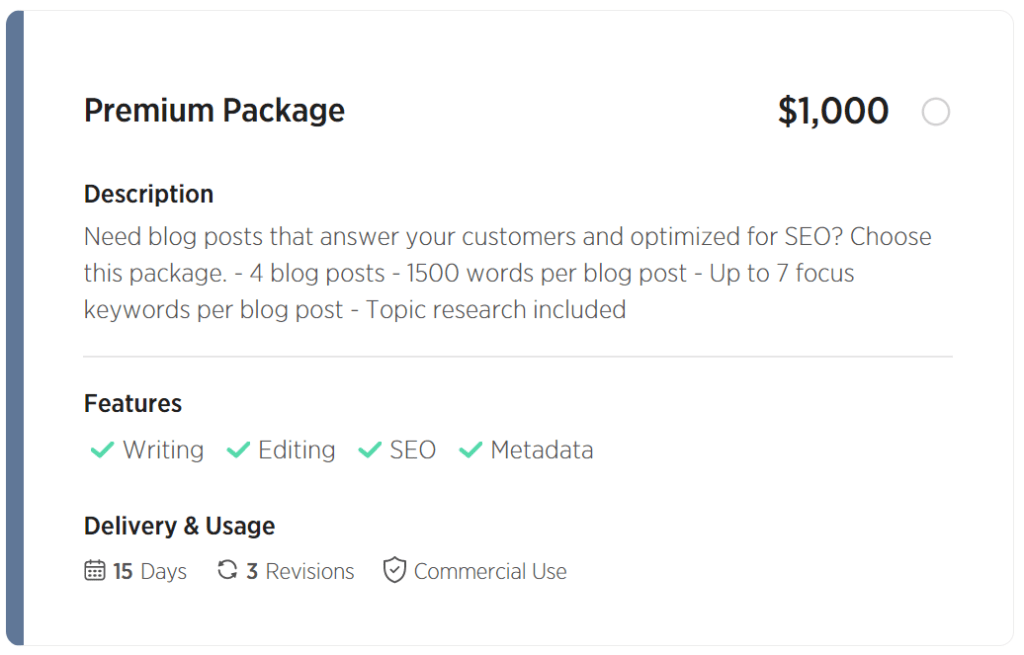 Article & Blog Writing - Premium Package